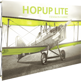 HopUp Lite 10 ft. Straight Full Height Tension Fabric Display