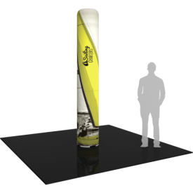 """Inflatable Display Large Column 117.5"""" tall with Graphics"""