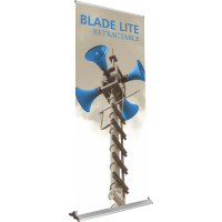 "Blade Lite 850 Roll Up Retractable Indoor Banner Stand - 33.5"" wide"