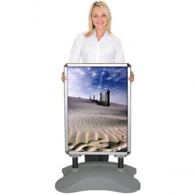Whirlwind Outdoor Snap Frame Sign Stand - Wheeled