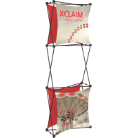 Xclaim 2.5ft. Wide Fabric Pop Up Display Banner Kit 03