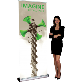 "Imagine 800 Roll Up Retractable Indoor Banner Stand - 31.5"" wide"