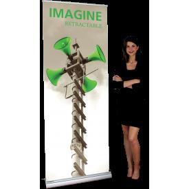 """Imagine 800 Roll Up Retractable Indoor Banner Stand - 31.5"""" wide"""