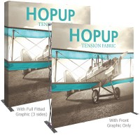 HopUp 8 ft. Straight Full Height Tension Fabric Display