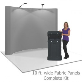 Coyote 10 ft Curved Pop Up Display - Fabric Panels Kit