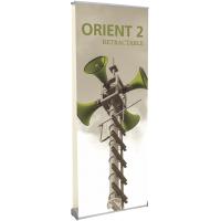 "Orient 2 800 2-Sided Roll Up Banner Stand - 31.5"" wide"
