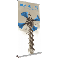 "Blade Lite 1200 Roll Up Retractable Indoor Banner Stand - 47.25"" wide"