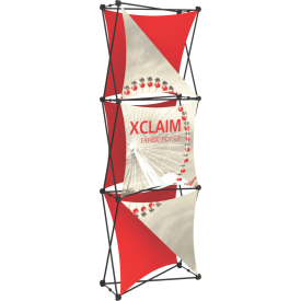 Xclaim 2.5ft. Wide Fabric Pop Up Display Banner Kit 04