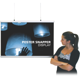 Poster Snapper Display Snap Frame  - Quick Change Flip-Up Snap Edges