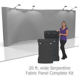 Coyote 20 ft Serpentine Pop Up Display - Fabric Panels Kit