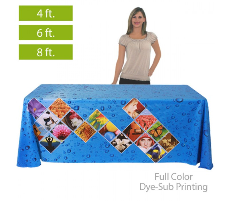 Full Color Printed Table Covers For 4 6 8 Ft Table