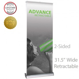 Advance 800 2-Sided Roll Up Retractable Indoor Banner Stand - 31.5in wide