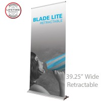 Blade Lite 1000 Roll Up Retractable Indoor Banner Stand - 39.25in wide