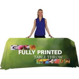 Full Color Printed Table Covers for 4, 6 and 8 ft. Table Sizes