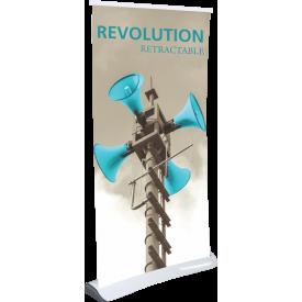 """Revolution Retractable Indoor Banner Stand - 33.5"""" wide"""