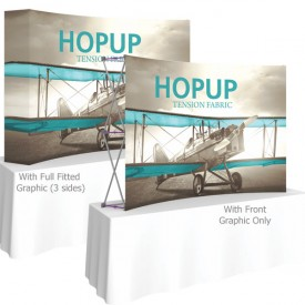 HopUp 7.5 ft. Curved Tabletop Tension Fabric Display