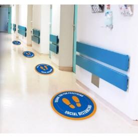 Footprint Social Distancing Circle Floor Decals