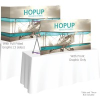 HopUp 5.5 ft. Curved Tabletop Tension Fabric Display