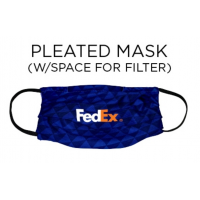 Custom Branded Pleated Cloth Face Masks