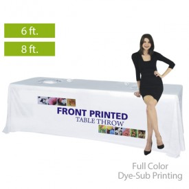 Front Printed Full Color Dye-Sub Printed Table Covers for 6 ft. and 8 ft. Table Sizes