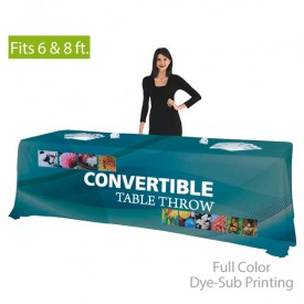 Convertible Full Color Dye-Sub Printed Table Cover fits 6 ft. and 8 ft. Table Sizes