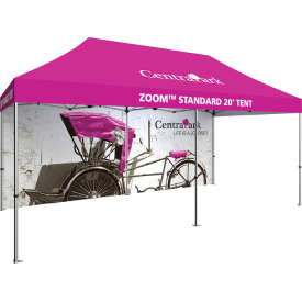 Zoom 20ft. PopUp Tent Kit - Printed Canopy and Full Wall