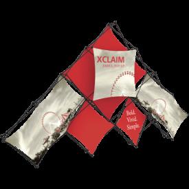 Xclaim 14ft. 10 Quad Pyramid Fabric Pop Up Display Kit 01