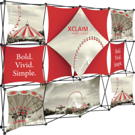 Xclaim 10ft. Wide Full Height Pop Up Display Kit 06