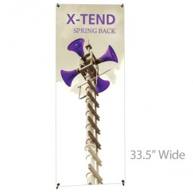 "X-TEND 5 Spring Back Banner Stand - 33.5"" Wide"