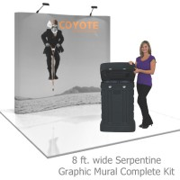 Coyote 8 ft Serpentine Pop Up Display - Graphic Mural Kit