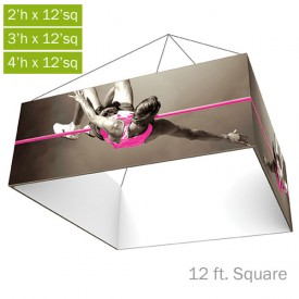 Formulate Essential Fabric Hanging Structure - 12 ft. Square