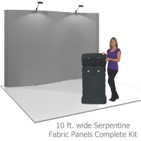 Coyote 10 ft Serpentine Pop Up Display - Fabric Panels Kit
