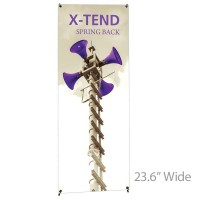 "X-TEND 1 Spring Back Banner Stand - 23.6"" Wide"