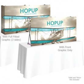 HopUp 5 ft. Straight Tabletop Tension Fabric Display