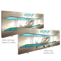 HopUp 20 ft. Straight Full Height Tension Fabric Display