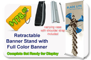Blade Lite 800 Banner Stand Package